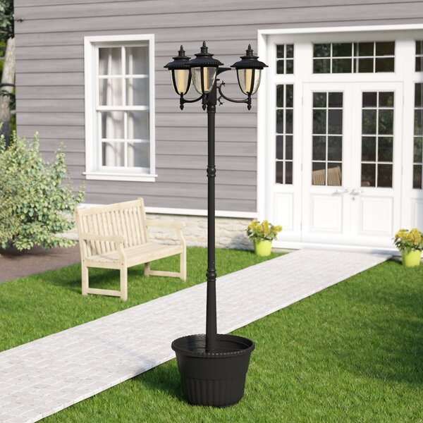 Wheelersburg Three Head Solar 3-Light LED 85 Post Light by Darby Home Co