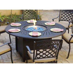 Slavens Patio Dining 60 Round Aluminum Propane Fire Pit