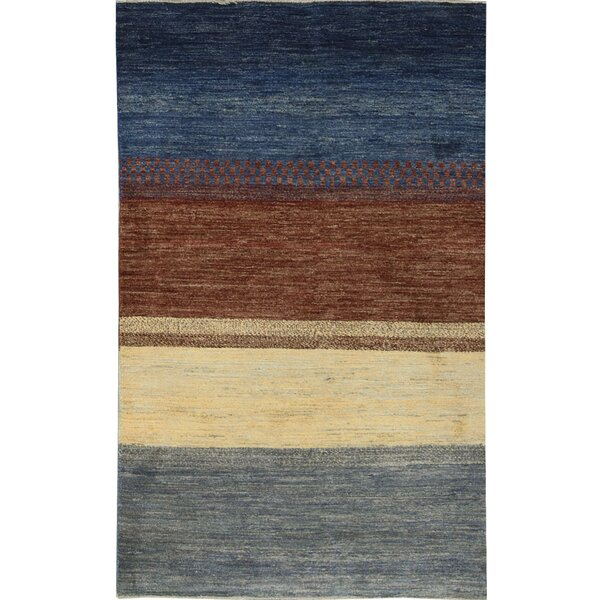 One-of-a-Kind Gabbeh Stripes Hand-Knotted Wool Ombre Area Rug by Bokara Rug Co., Inc.