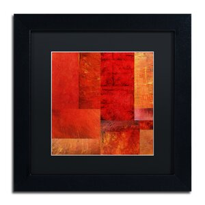 Essence of Red by Michelle Calkins Framed Painting Print by Trademark Fine Art