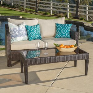 Dragoon 2 Piece Outdoor Loveseat & Table