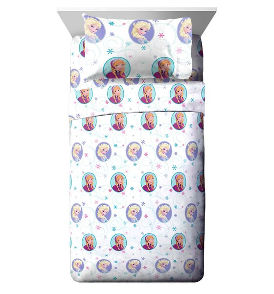 Disney Frozen Swirl Reversible Comforter Set (Set of 4) by Fingerlings