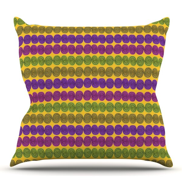 Under the Sea Shells by Jane Smith Outdoor Throw Pillow by East Urban Home