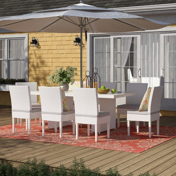 Menifee 9 Piece Dining Set with Cushions by Sol 72 Outdoor