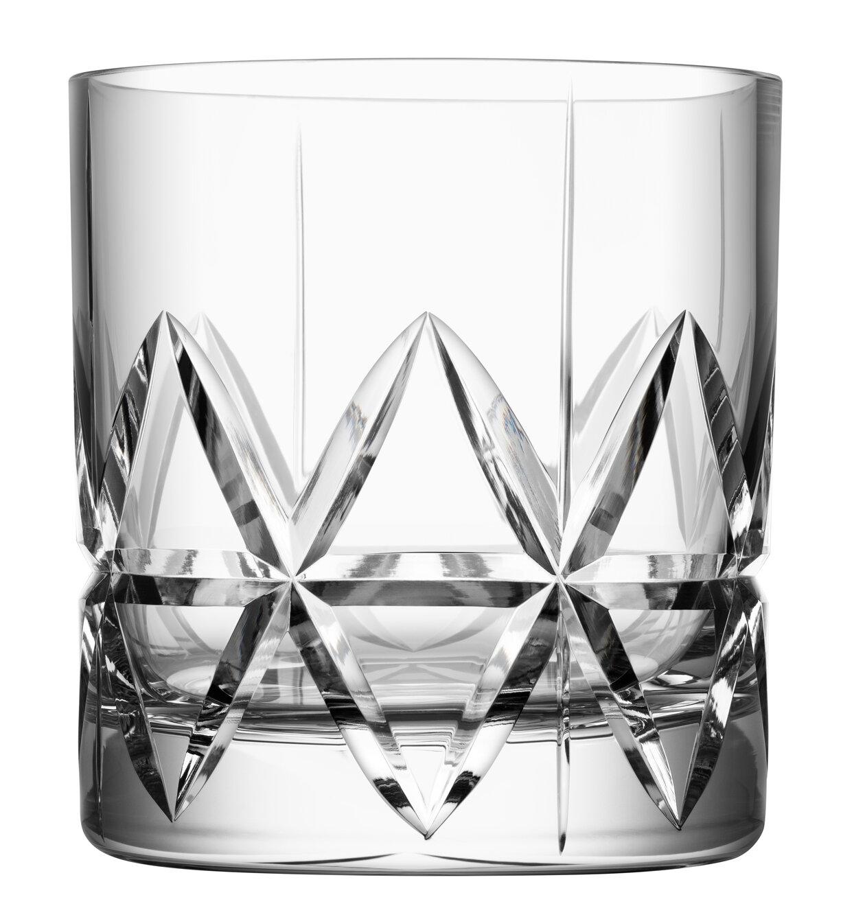 4 Whisky Glass Set Stylish Sturdy Glasses Unique 12 Oz Whiskey Crystal Glasses Glassware Drinkware Martini Glasses