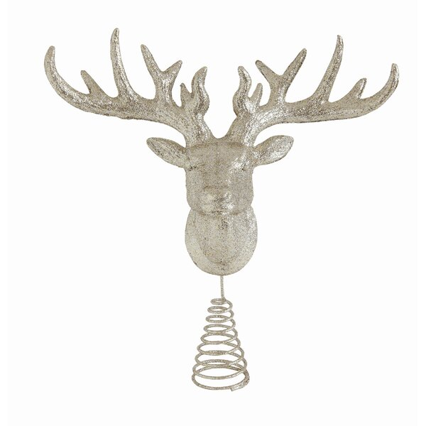 Plastic Deer Head Tree Topper (Set of 2) by The Holiday Aisle