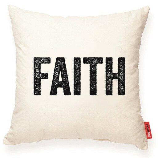 Expressive Faith Decorative Cotton Throw Pillow by Posh365