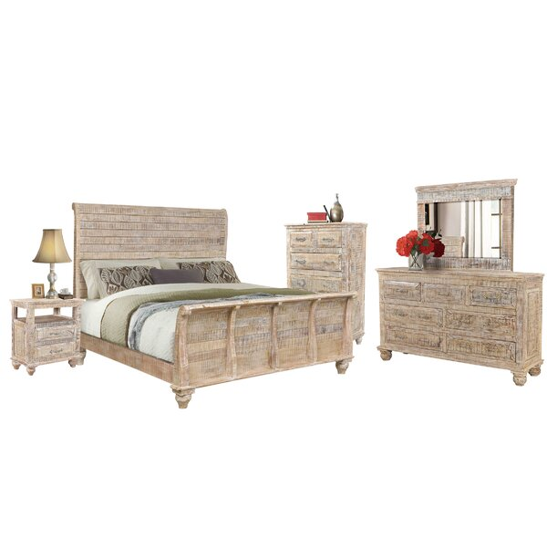 Keene Sleigh 5 Piece Bedroom Set by Rosecliff Heights