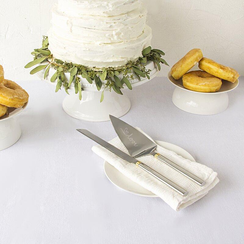 Isadora Golden Love Cake Serving Set