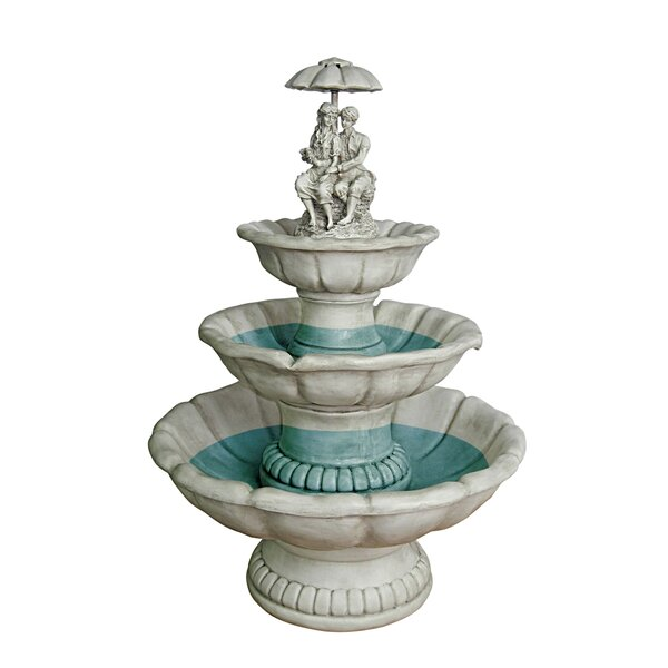 Resin Lovers Under Umbrella Sculptural Fountain by Wildon Home ®