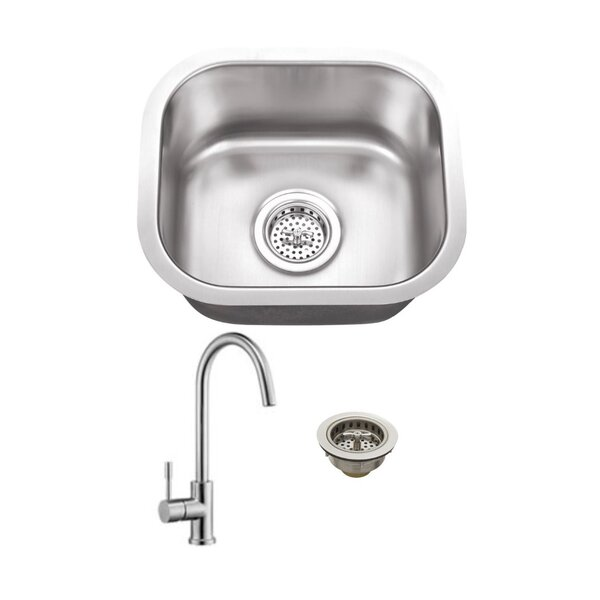 15 L x 13 W Undermount Bar Sink with Faucet by Cahaba