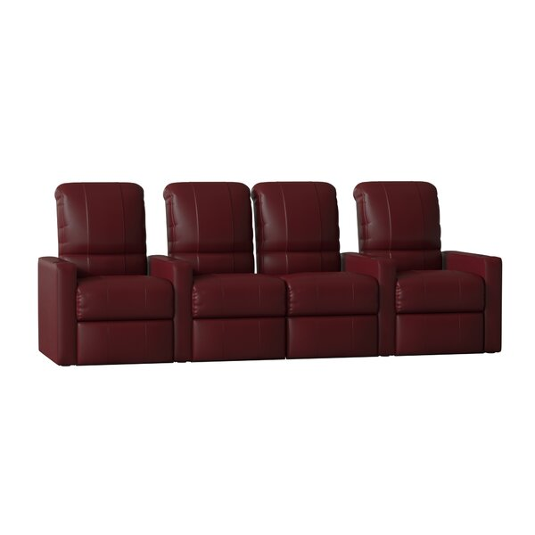 Contemporary Home Theater Lounger With Loveseat (Row Of 4) By Latitude Run