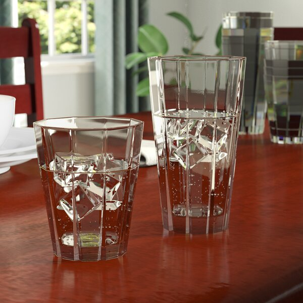Larrabee 12 Piece Acrylic Assorted Glassware Set by Andover Mills