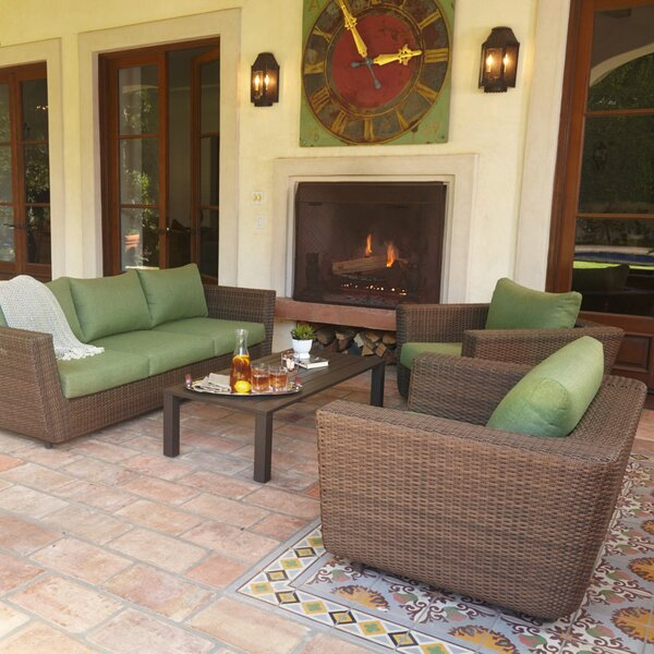 Etheridge 4 Piece Sofa Seating Group with Cushions by Alcott Hill