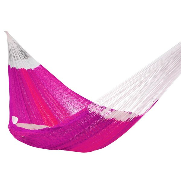 Lisa Double Tree Pink/White Hammock by Freeport Park