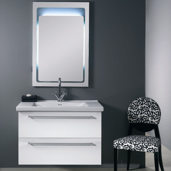 Fly 37 Single Wall Mounted Bathroom Vanity Set with Mirror by Iotti by Nameeks