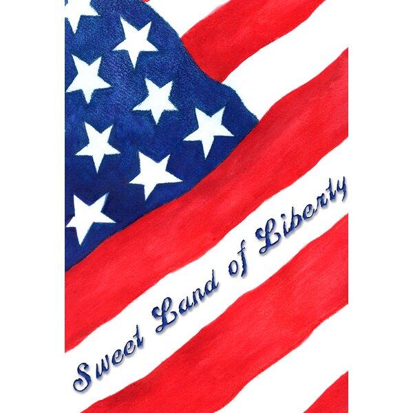 Sweet Land of Liberty Garden flag by Toland Home Garden
