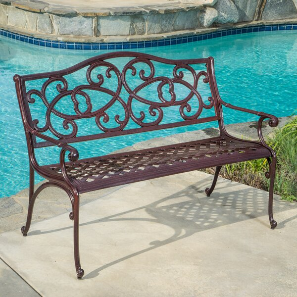 Cesar Cast Aluminum Garden Bench by Fleur De Lis Living