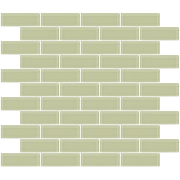 1 x 3 Glass Subway Tile in Celery Yellow by Susan Jablon
