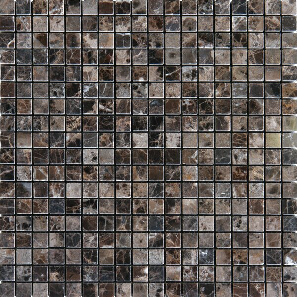 Emperador Dark 0.625'' x 0.625'' Marble Mosaic Tile in Brown by MSI