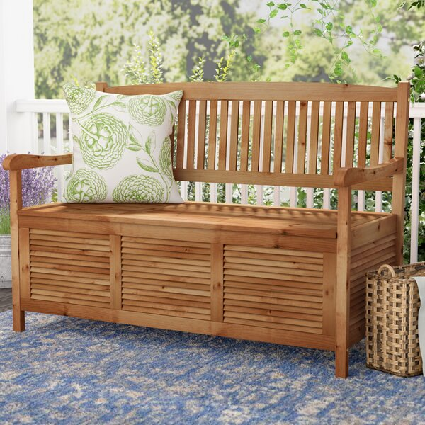 Brisbane Wooden Storage Bench by One Allium Way One Allium Way