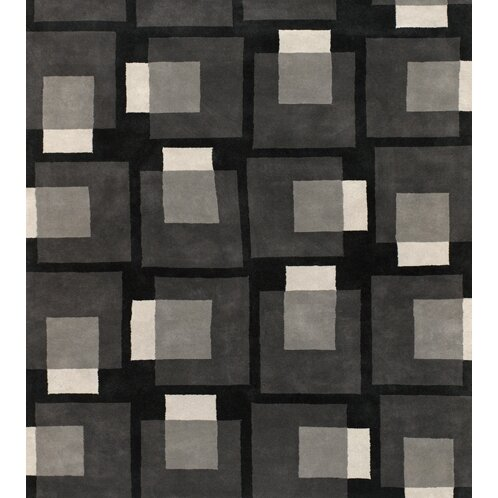 Stickel Black/Gray Area Rug by Latitude Run