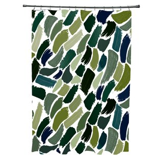 Read Reviews Goodlow Abstract Shower Curtain ByIvy Bronx