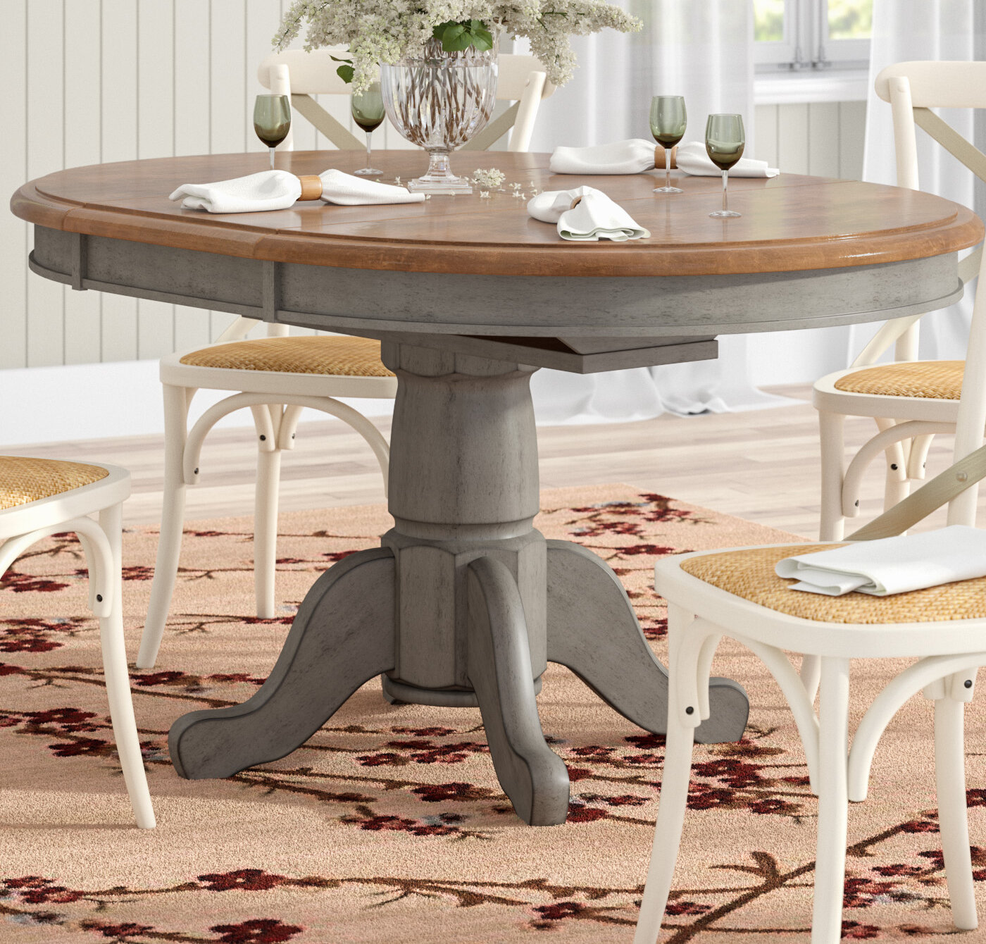 August Grove Wonderly Pedestal Extendable Dining Table Reviews