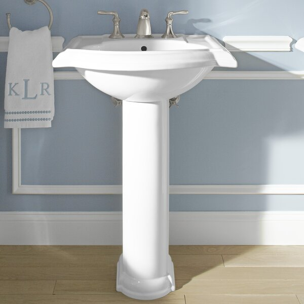 Devonshire® Ceramic 24 Pedestal Bathroom Sink with Overflow by Kohler