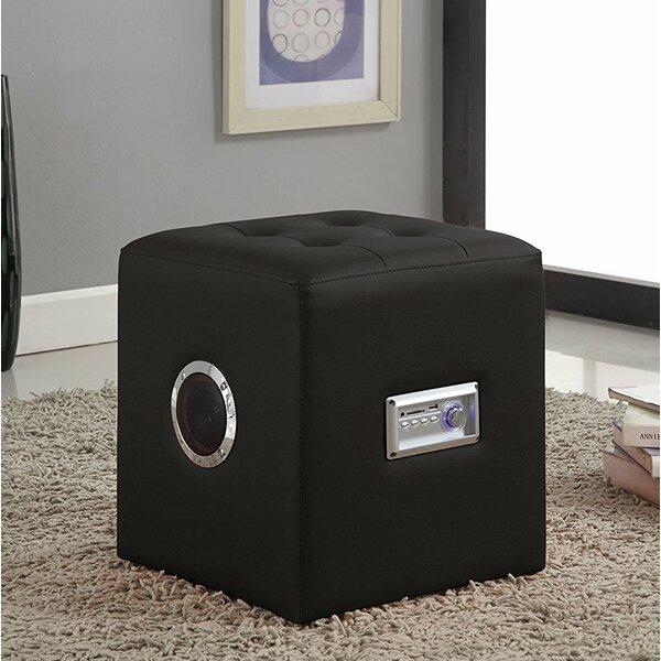 Modern Bluetooth Speaker Sound Lounge Cube Ottoman by Ebern Designs