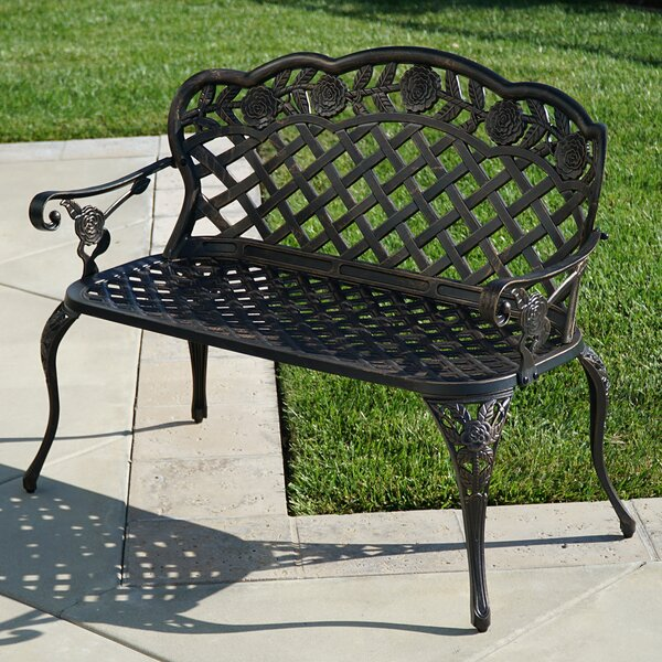 Newfield Outdoor Metal Garden Bench by Ophelia & Co.