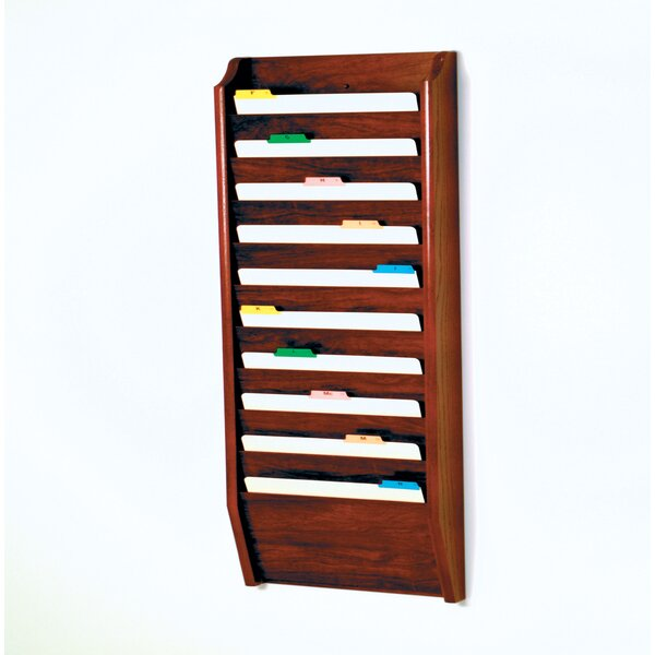 Ten Pocket Legal Size File Holder by Wooden Mallet