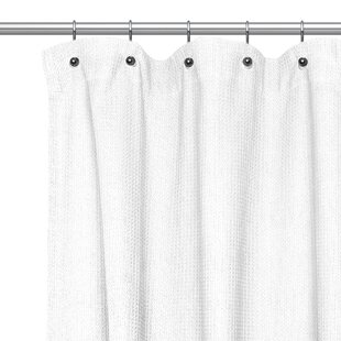 Buy clear Waffle Weave Cotton Shower Curtain By Sweet Home Collection