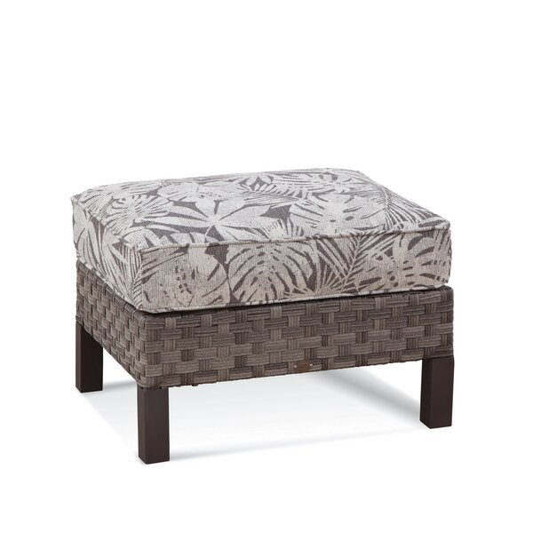Luciano Outdoor Ottoman with Sunbrella Cushions by Braxton Culler