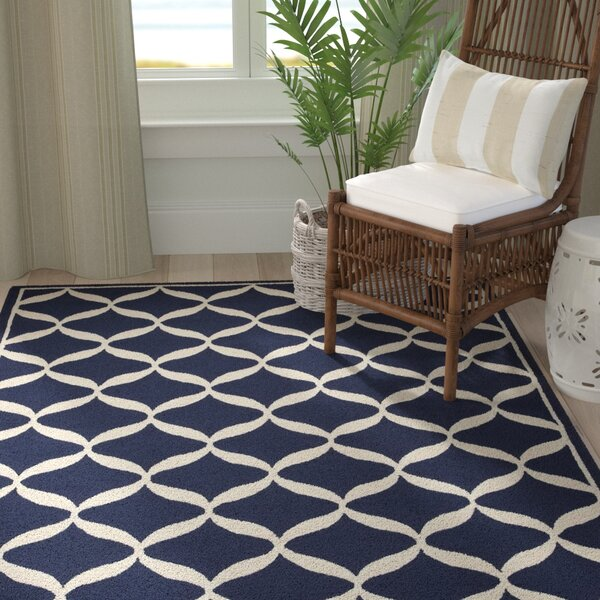 Sidonie Hand-Tufted Navy Area Rug by Highland Dunes