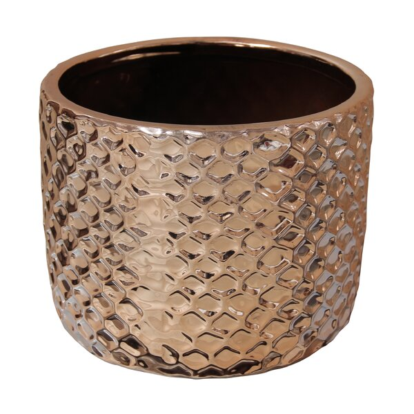 Ginnifer Electroplate Ceramic Pot Planter by Bungalow Rose