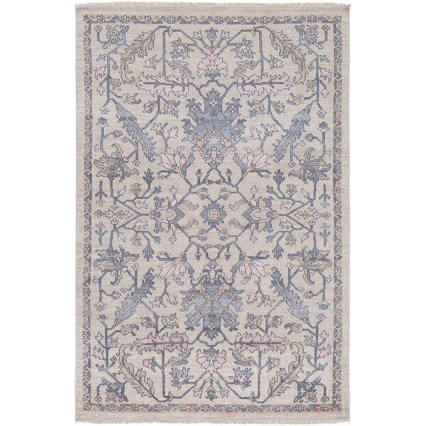 Casco Hand Knotted Charcoal/Khaki Area Rug by Bungalow Rose