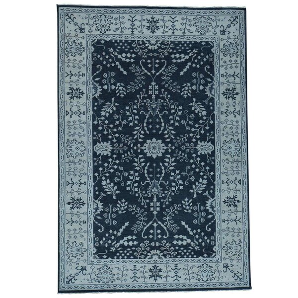 One-of-a-Kind Organ Hand-Knotted Navy Blue Area Rug by One Allium Way