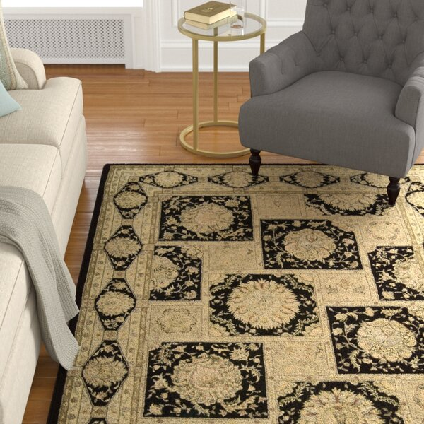 Fontenelle Hand-Tufted Black/Beige Area Rug by Astoria Grand