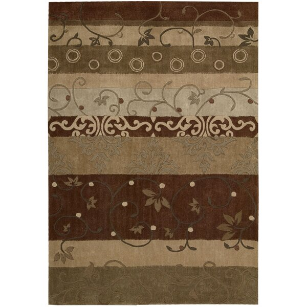 Brittni Hand-Tufted Beige/Brown Area Rug by Red Barrel Studio