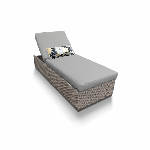 Rochford Reclining Chaise Lounge with Cushions by Sol 72 Outdoor