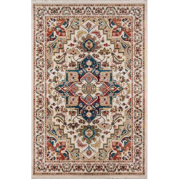 Ebner Power Loom Ivory Indoor Area Rug by Bloomsbury Market