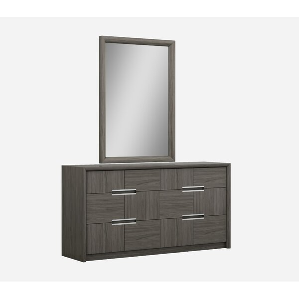 Morel 6 Drawer Double Dresser with Mirror by Orren Ellis