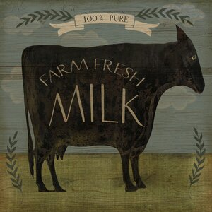 'Farm Fresh Milk' by Beth Albert Graphic Art on Canvas by Buy Art For Less