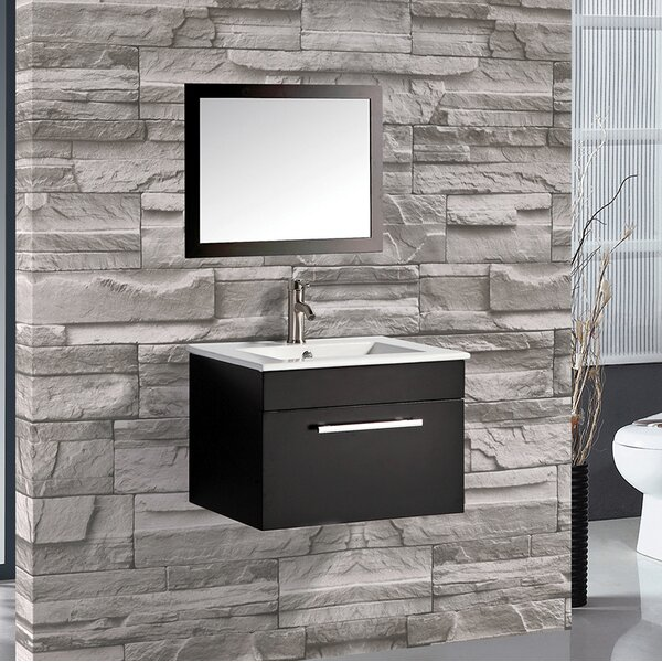Potvin 24 Single Sink Bathroom Vanity Set with Mirror by Orren Ellis