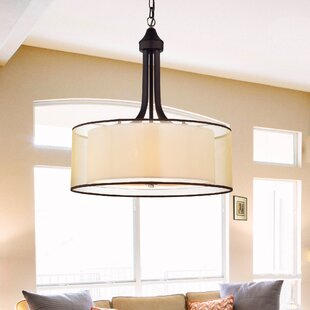 Drum pendants youll love wayfair 4 light pendant aloadofball Image collections
