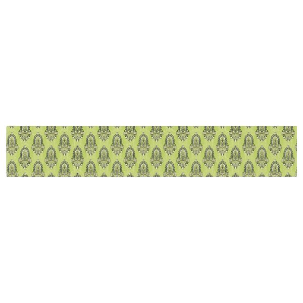Holly Helgeson Deco Flourish Pattern Table Runner by East Urban Home