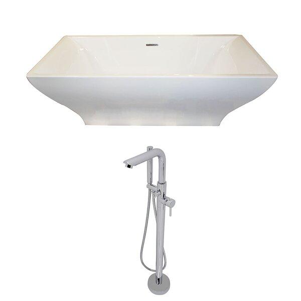 Vision 70.4 x 31.6 Freestanding Soaking Bathtub by ANZZI