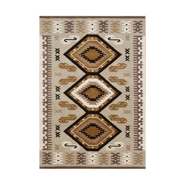 Siltcoos Hand-Tufted Taupe/Brown Area Rug by The Conestoga Trading Co.