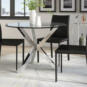 Glass Kitchen & Dining Tables You\'ll Love | Wayfair